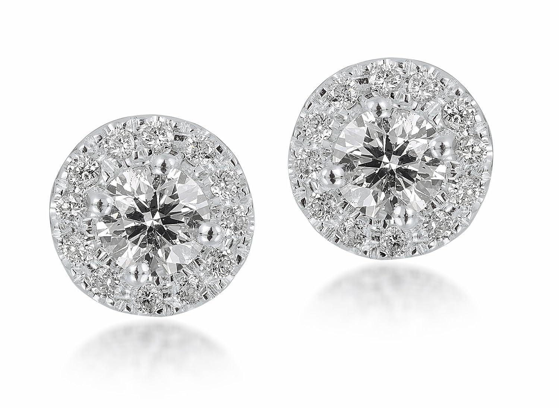 Diamond Studs Forever – Halo-Ohrstecker – 1/2 ct. Diamanten GH/I1 – Weißgold 14 K – IGI-zertifiziert jetzt bestellen