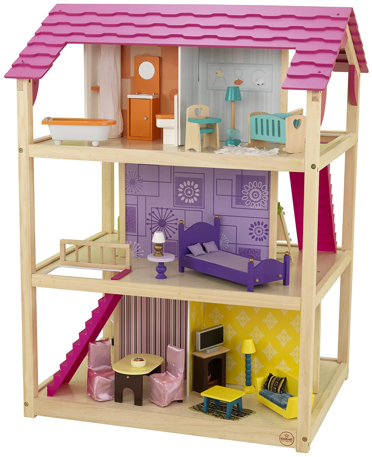 wonderful image of wooden doll house kitchen furniture table princess barbie dolls girls with a87523