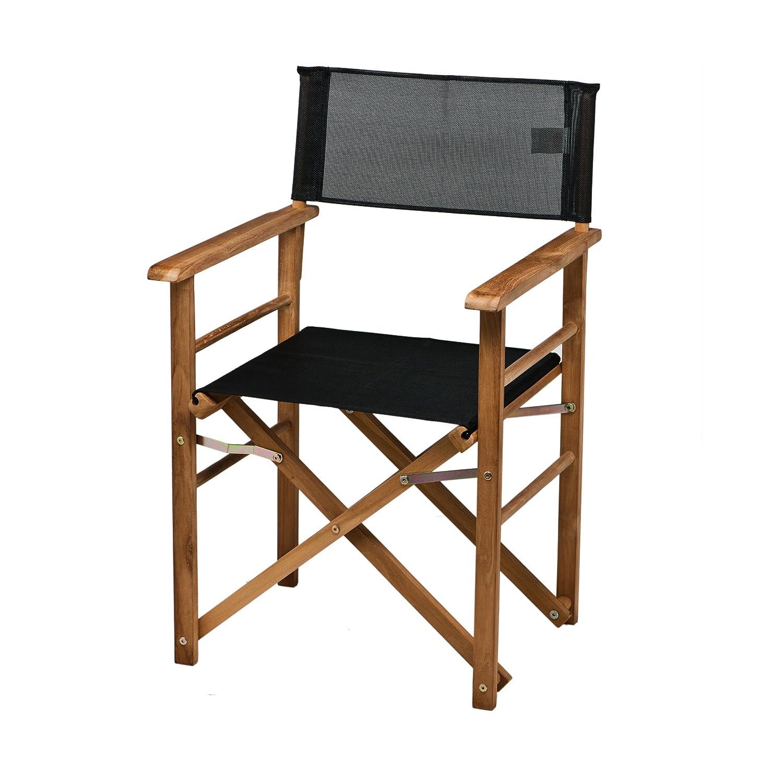 holz regiesessel kunststoffgewebe schwarz jetzt bestellen. Black Bedroom Furniture Sets. Home Design Ideas