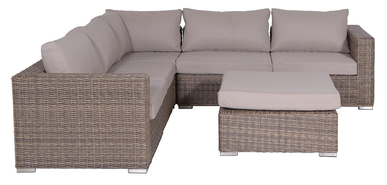 Garden Impressions 02200GS Lounge Set, Helsinki New, 256 x 256 x 64 cm, Braun jetzt bestellen