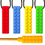 SENSO MEGA BUNDLE Sensory Chew Necklace Set (4 Pack + BONUS Pencil Topper) - Silicone Chewy for ADHD, Teething, Autism, Biting, Oral Motor Chew Toy for Boys and Girls - UPGRADED TOUGHER CHEW (Color: Mega Bundle)