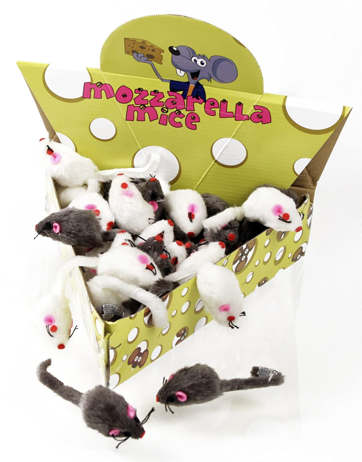 MOZZARELLA Plush Mice – 48 pc. Cheese Wedge Pack $14.99