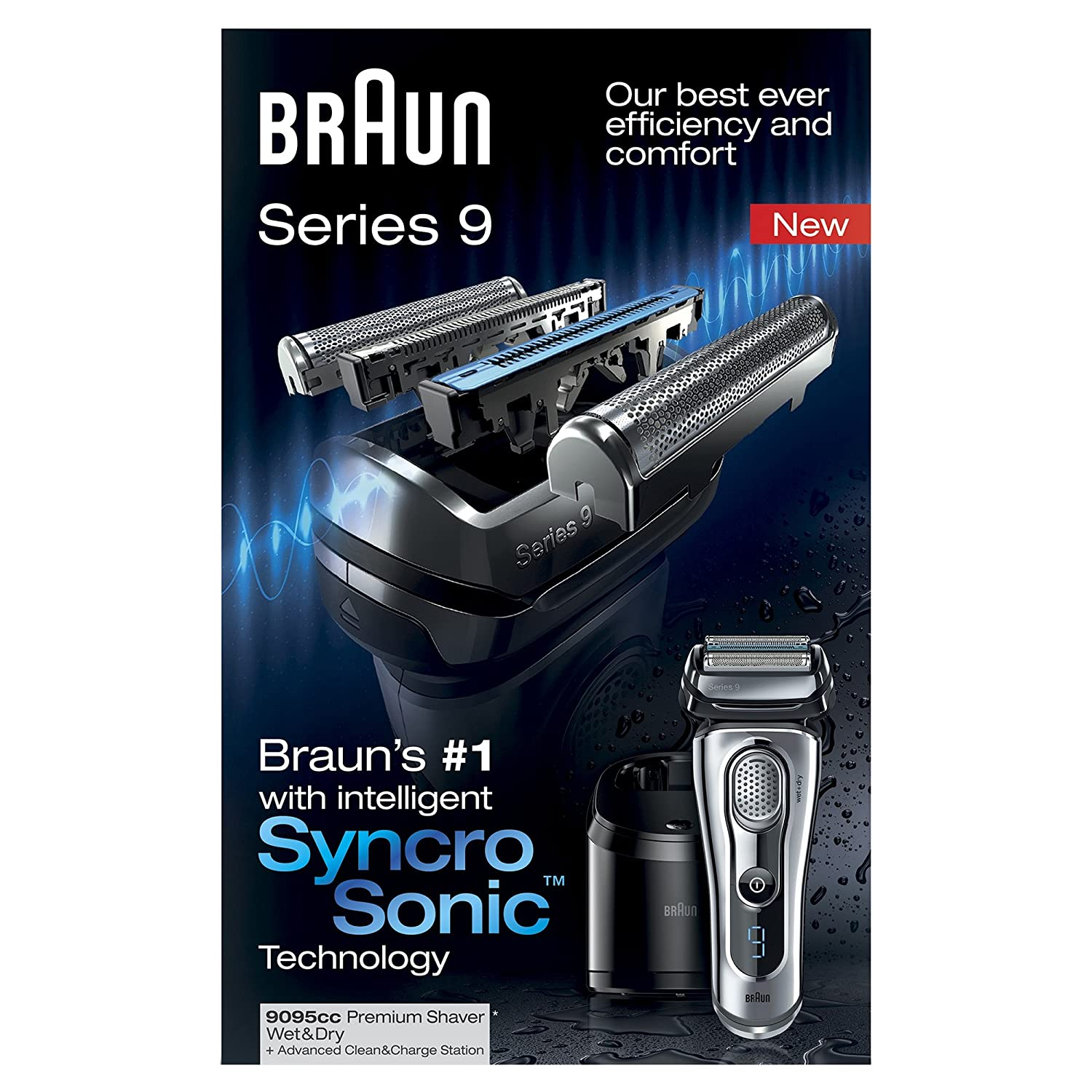braun series 9 9095cc electric male shaver 69055871805 ebay. Black Bedroom Furniture Sets. Home Design Ideas