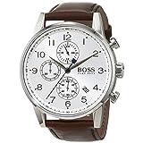 Boss NAVIGATOR CLASSIC 1513495 Mens Chronograph Classic & Simple (Color: silver)