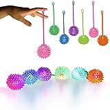 LED Jelly Spike YoYo Balls-12 Pack