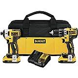 Dewalt 20V MAX XR 2.0Ah Li-Ion Brushless Compact Drill/Driver DCD791 & Impact Driver DCF887 Combo kit (Renewed)
