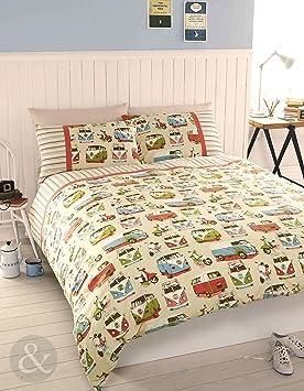 3 bedding parure de lit housse housse de couette et taie taie d 39 oreiller imprim r tro. Black Bedroom Furniture Sets. Home Design Ideas