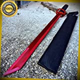 27'' Ninja Sword Machete RED Full Tang Blade Katana with sheath 61RD for Hunting Camping Cosplay
