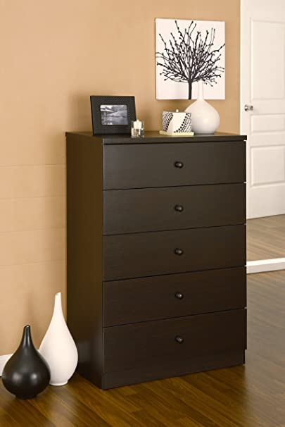 Furniture of America Albury 5-Drawer Bedroom Chest/Dresser, Cappuccino