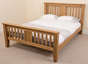 Boston 4ft Solid Oak Double Bed Frame Bedroom Furniture       reviews and more information