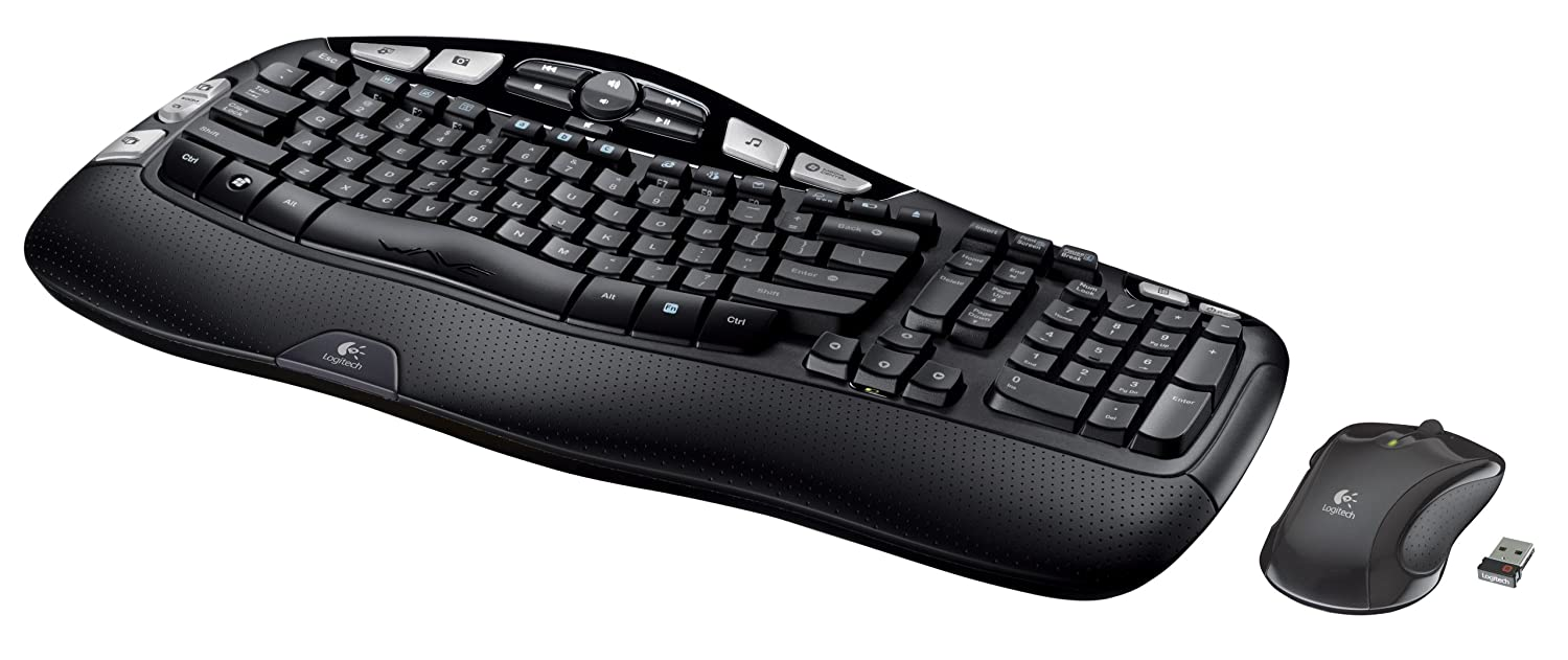 logitech wireless wave combo mk550 with keyboard and laser mouse 920 002807 ebay. Black Bedroom Furniture Sets. Home Design Ideas
