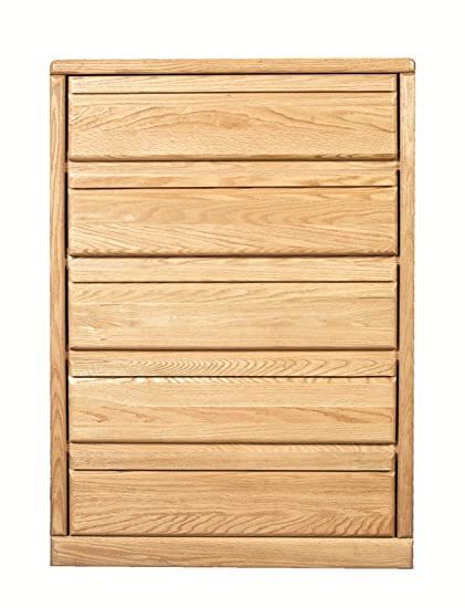Forest Designs Bullnose Golden Five Drawer Chest: 34W x 48H x 18D 34w x 48w x 18d Merlot Oak