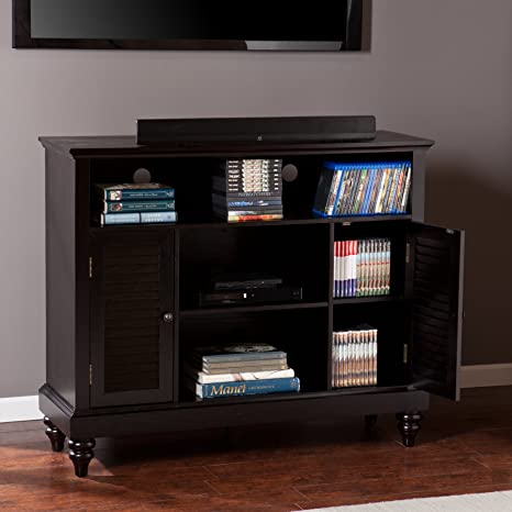 Louvered-Door TV/Media Cabinet