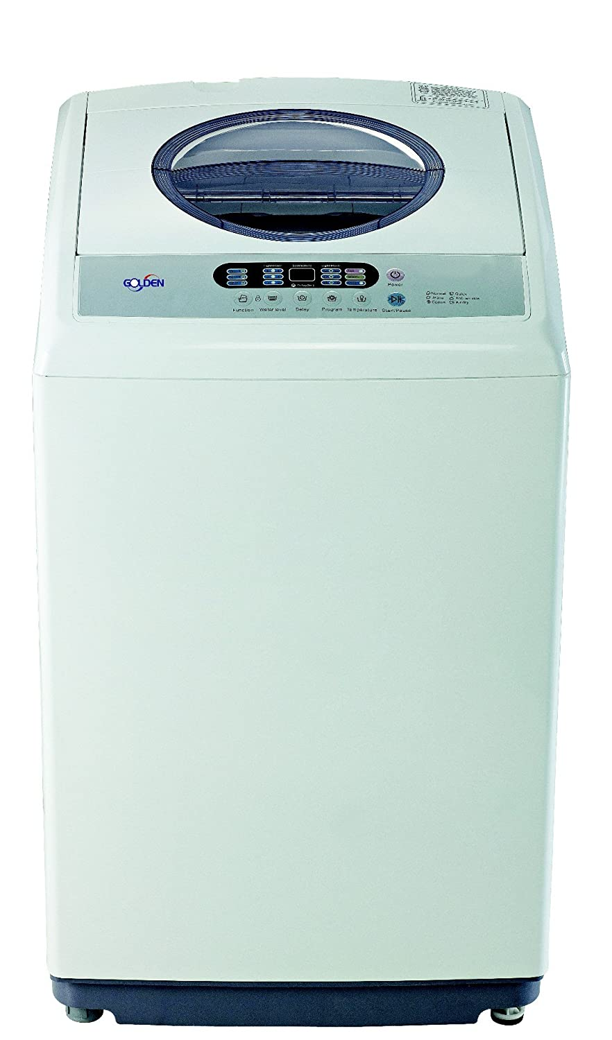 Golden (1.6 Cf - 11 Lbs) Portable Washer Machine GLP11E Mini Washing Machine Automatic - White