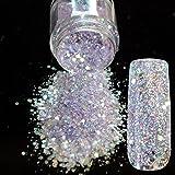 Spirit Clear Sequins Dust DIY Nail Art Glitter Gem Nail Designs Supplies Light Purple Acrylic UV Mix Size Glitter Powder 285 (Color: 285)