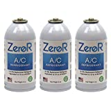 ZeroR AC Refrigerant 3 Cans - Better Than R134a - Made in USA - Natural Non Ozone Depleting (Tamaño: 6oz = 16oz of R-134a)
