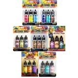 Tim Holtz Adirondack Alcohol Inks - 7 Packages - 21 Ink Bottles total Dockside Picnic, Summit View, Retro Cafe, Nature Walk, Cabin Cupboard, Mariners, Farmer's Market