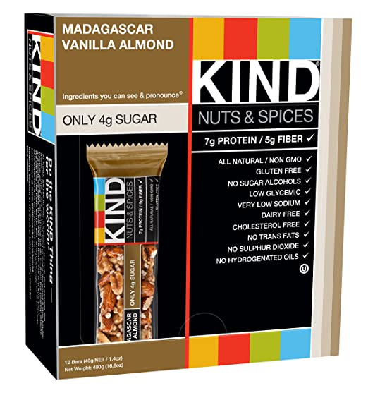 Amazon - 12Ct KIND Nuts & Spices, Madagascar Vanilla Almond - $8.78