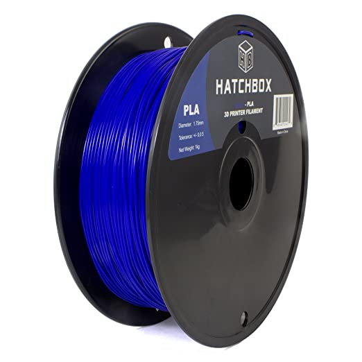HATCHBOX 1.75mm Blue PLA 3D Printer Filament - 1kg Spool (2.2 lbs) - Dimensional Accuracy