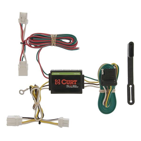 CURT 55361 Vehicle-Side Custom 4-Pin Trailer Wiring Harness ... on nissan brakes, nissan truck wiring harness, nissan roof rack, nissan back up camera harness, nissan wiring diagrams, nissan alternator wiring, nissan floor mats, nissan engine wiring harness,