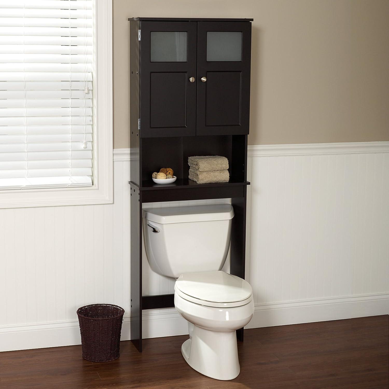 bathroom cabinet storage over toilet space saver stand shelf organizer