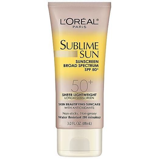 L'Oreal Paris Sublime Sun Advanced Sunscreen SPF 50+ Lotion, 3.0 Ounce