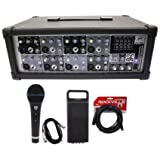 NEW Peavey PVi8B 150 Watt 8 Channel Powered Mixer Console+Microphone+XLR Cable