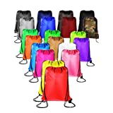 20 Pieces Drawstring Backpack Sport Bags Cinch Tote Bags for Traveling and Storage (20 Colors A, Size 1) (Color: 20 Colors A, Tamaño: Size 1)