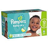 Pampers Baby-Dry Disposable Diapers Size 5, 112 Count, GIANT