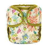 One Size Cloth Diaper Cover Snap With Double Gusset (Bloom) (Color: Bloom, Tamaño: One Size)