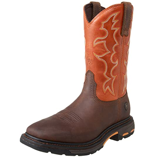 Men's Name Brand Ariat Workhog Wide Western Boot For Sale Multicolor Variations
