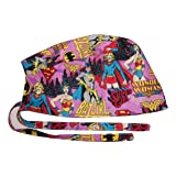 Scrub Hat Women Superheros Comic Fabric Nurse Cap Doctor ER Do-Rag Skull