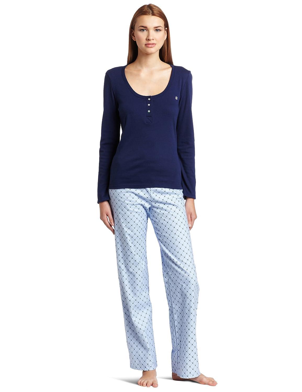 值值Tommy Hilfiger女士礼盒长袖上衣加法兰绒裤子套Snow White/Navy $13.36曲线为更新