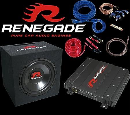 Renegade RBK1100XL Ensemble caisson de basses, amplificateur et câble 1100 W