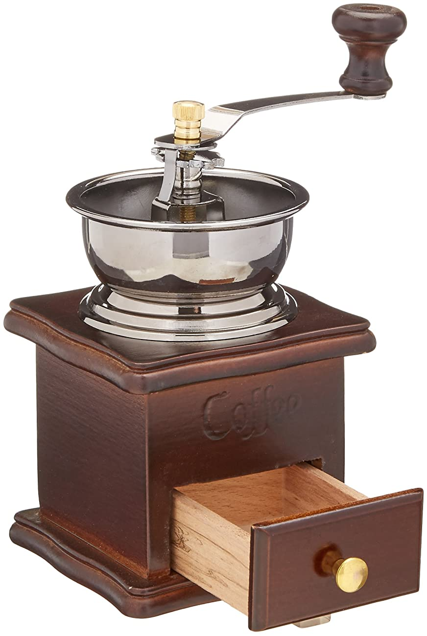 ReaLegend Wooden Manual Coffee Grinder Vintage Style Hand Coffee Mill Burr Coffee Grinder with Ceramic Hand Crank 1