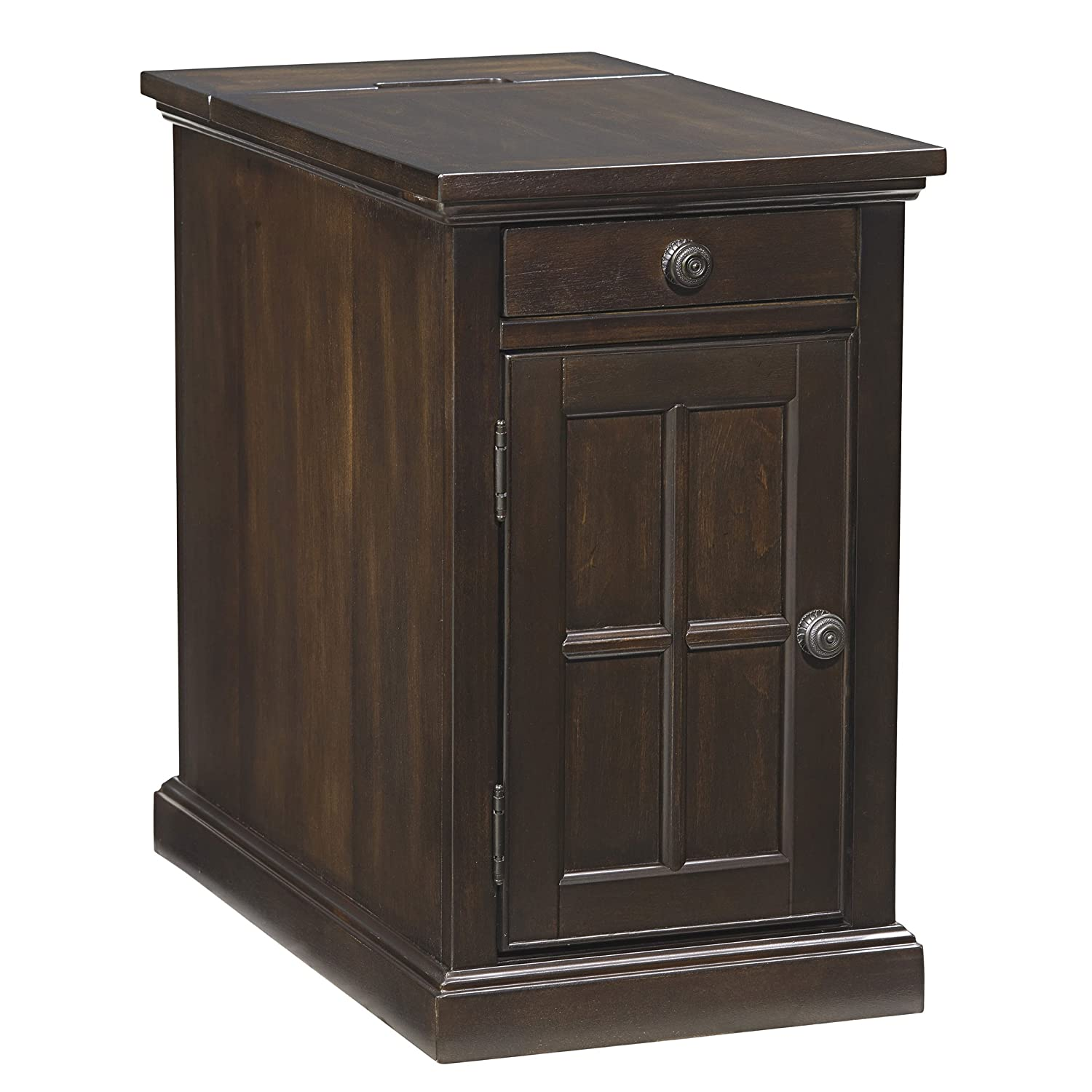 Ashley Power Signature Design Chair Side End Table In Dark