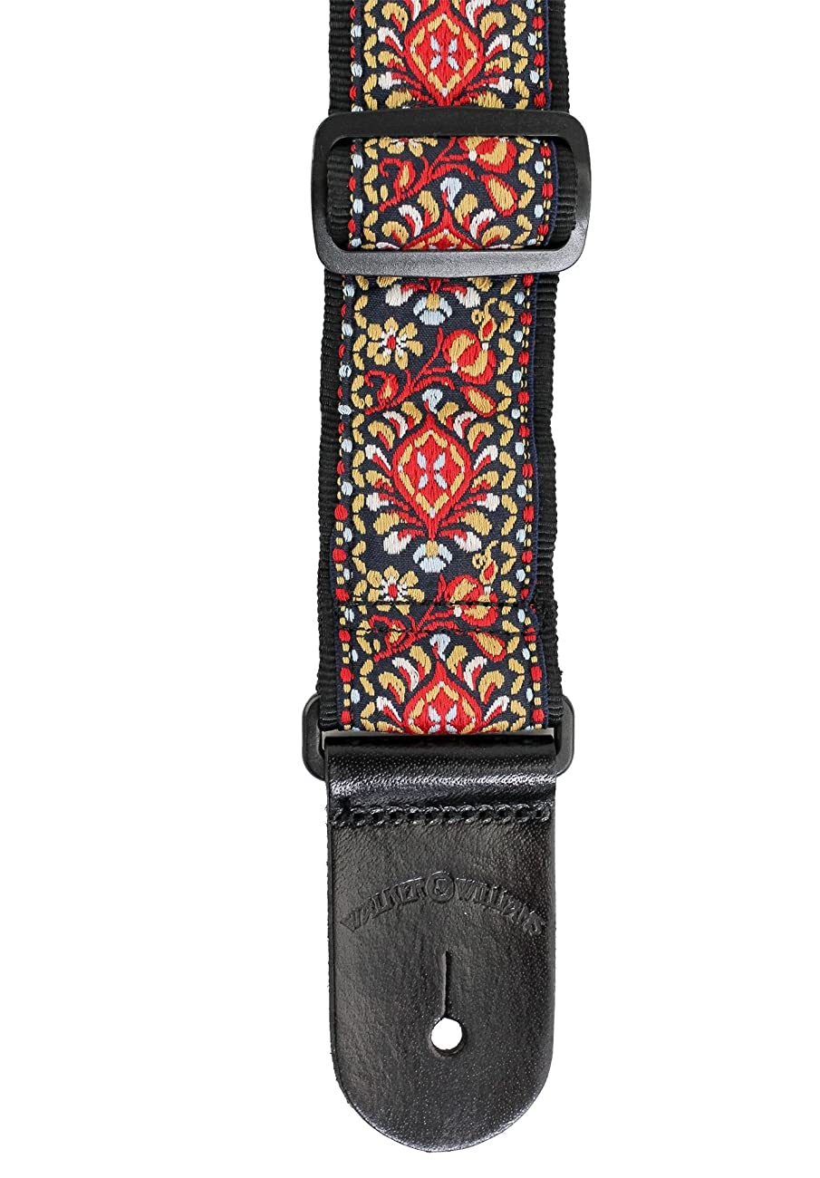 Walker & Williams H-21 Mandala Woven 60's Style Hootenanny Hippie Guitar Strap 5