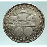 1893 1893 CHRISTOPHER COLUMBUS w SHIP Commemorative AR coin Good Uncertified