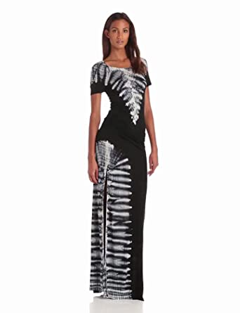 Young Fabulous & Broke Women's Montauk Short Sleeve Carnivale Maxi Dress, Black, Medium