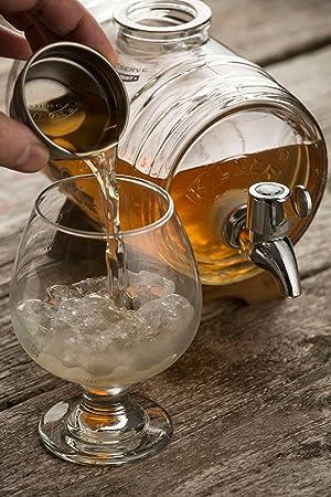 Kilner Glassware Drink Dispenser Barrel, 34-Fluid Ounces (Color: Clear, Tamaño: 34-Fluid Ounces)
