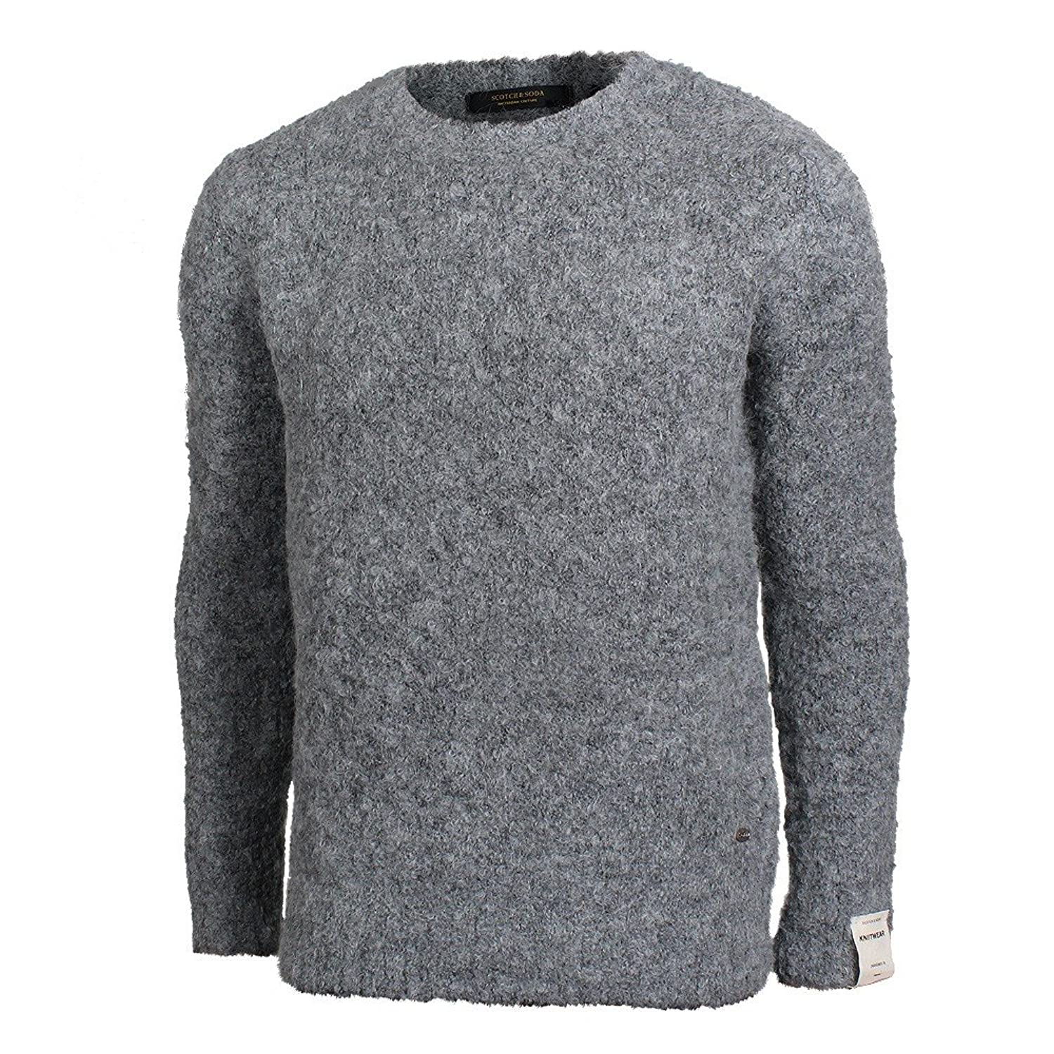Scotch & Soda Bouclé Strickpullover grau