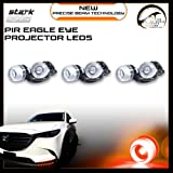 Eagle Eye 18mm Projector PIR Lens RED LED Fog Light DRL Backup Signal Bulbs - 6 PCS (Color: Red, Tamaño: 6 Pieces)