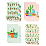 Memo Book – 12-Pack Mini Notebooks, 4 Cacti Designs, Field Notebook, Pocket Journal for Kids, Perfect for Journaling, Diary, Note Taking, Soft Cover, 16 Ruled Sheets Each, 3.5 x 5 Inches (Color: Cacti)
