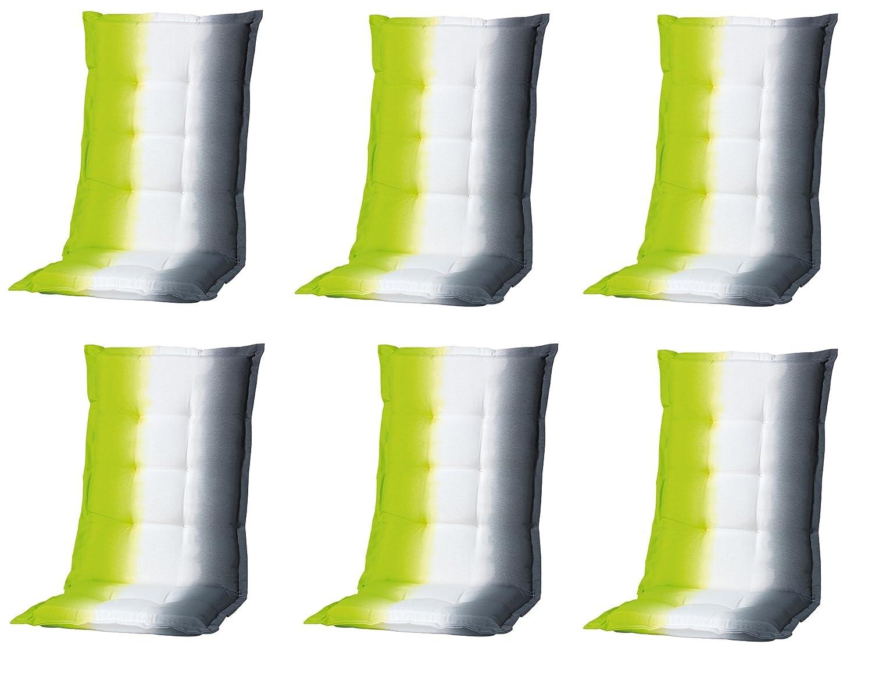 """6 x 8 cm Luxus Hochlehner """"C 338"""", anthrazit weiß grün gestreift günstig"""