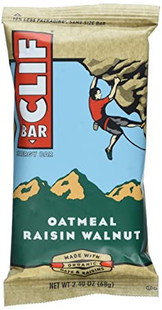 Clif Bar - Haferflocken Rosinen & Walnussen (Pack of 12 x 68g) [Kohlenhydrate]
