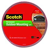 Scotch Permanent Outdoor Mounting Tape, 1 Inch x 450 Inches (4011-LONG) (Color: Red, Tamaño: 1