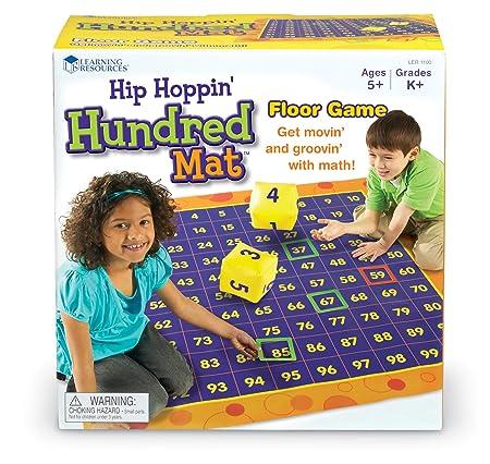 Learning Resources Tapis D'activités Hip Hoppin' Pour Compter Jusqu'à Cent De -