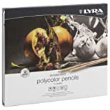 Lyra Rembrandt Polycolor Colored Pencils, Set of 24, Assorted Colors (2001240) (Color: assorted colours, Tamaño: Set of 24)