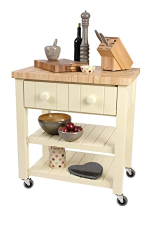 fully assembled 10264- New England Trolley In Cream Hevea With Hevea Top