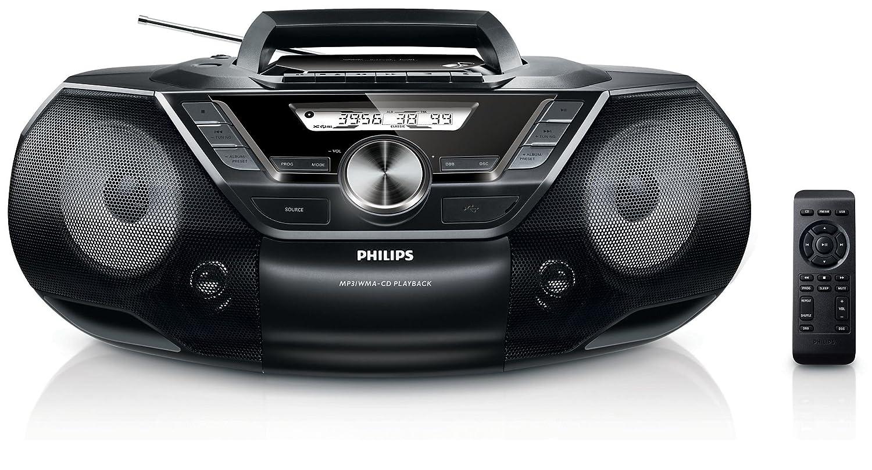 Radio Lecteur K7 CD et MP3 PHILIPS AZ787 NOIR